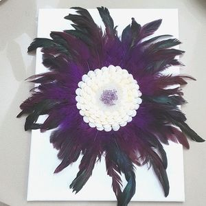 Amethyst Feather Artwork